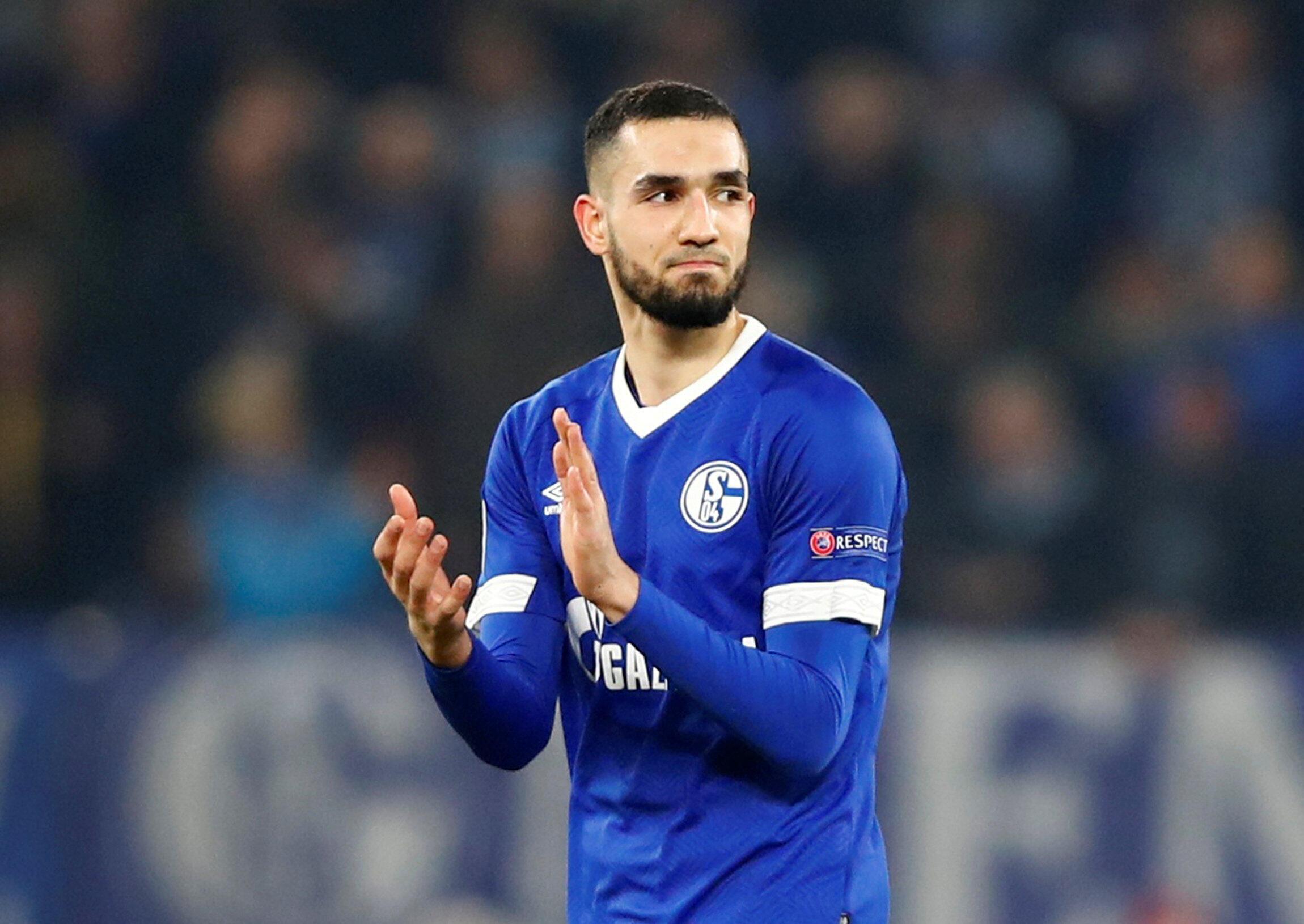 Nabil Bentaleb a inscrit les deux buts de Schalke 04, sur penalties, contre Manchester City en Ligue des champions le 20 février 2019.