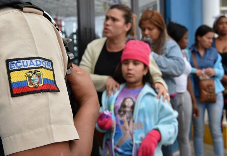 Người tị nạn Venezuela tại Huaquillas, Ecuador sát biên giới với Peru. Ảnh ngày 24/08/2018.