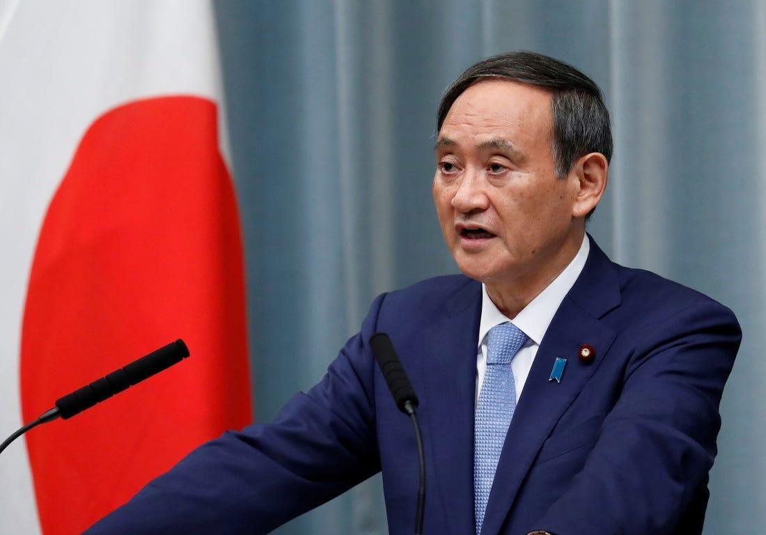 日本首相官菅义伟资料图片