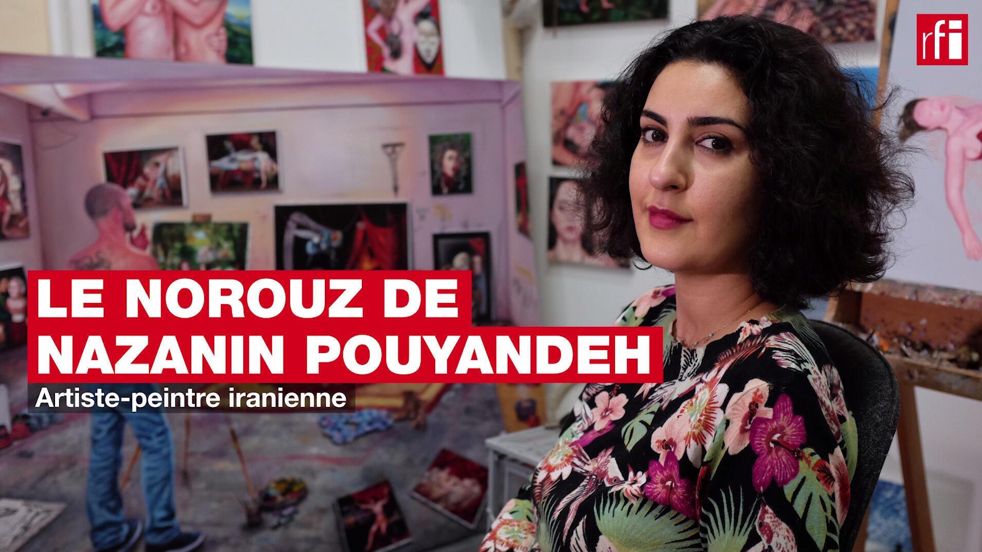 Le Norouz de la peintre iranienne Nazanin Pouyandeh en un mot, un geste et un silence. © Siegfried Forster / RFI
