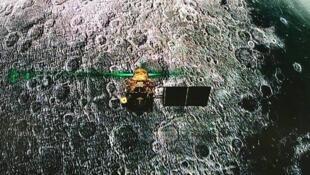 La sonde indienne Vikram, le 6 août 2019, à la veille de la date prévue pour son alunissage.