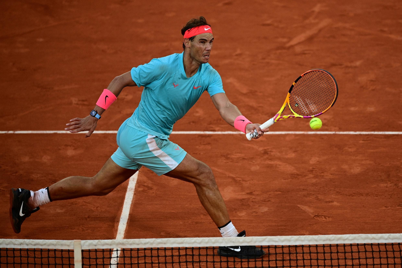 Rafael Nadal superó al argentino Diego Schwartzman en Roland Garros, en París el 9 de octubre de 2020