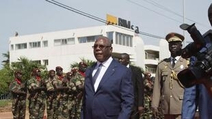 Ibrahim Boubacar Keita, rais wa Mali, wakati wa maadhimisho ya 54 ya uhuru wa Mali.Septemba 22 mwaka 2014.