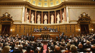 Hémicycle du Sénat, au Palais du Luxembourg.