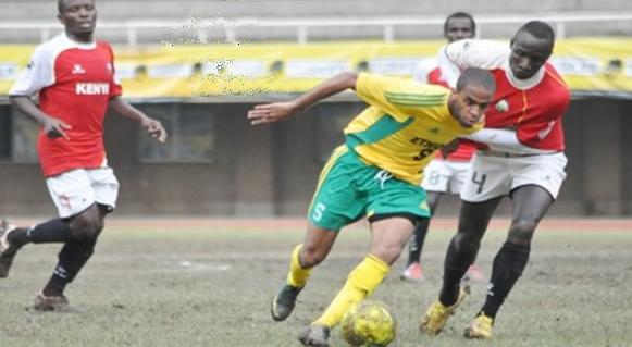 Un joueur érythréen (en jaune), lors d'un match contre le Kenya, le 30 novembre 2012.