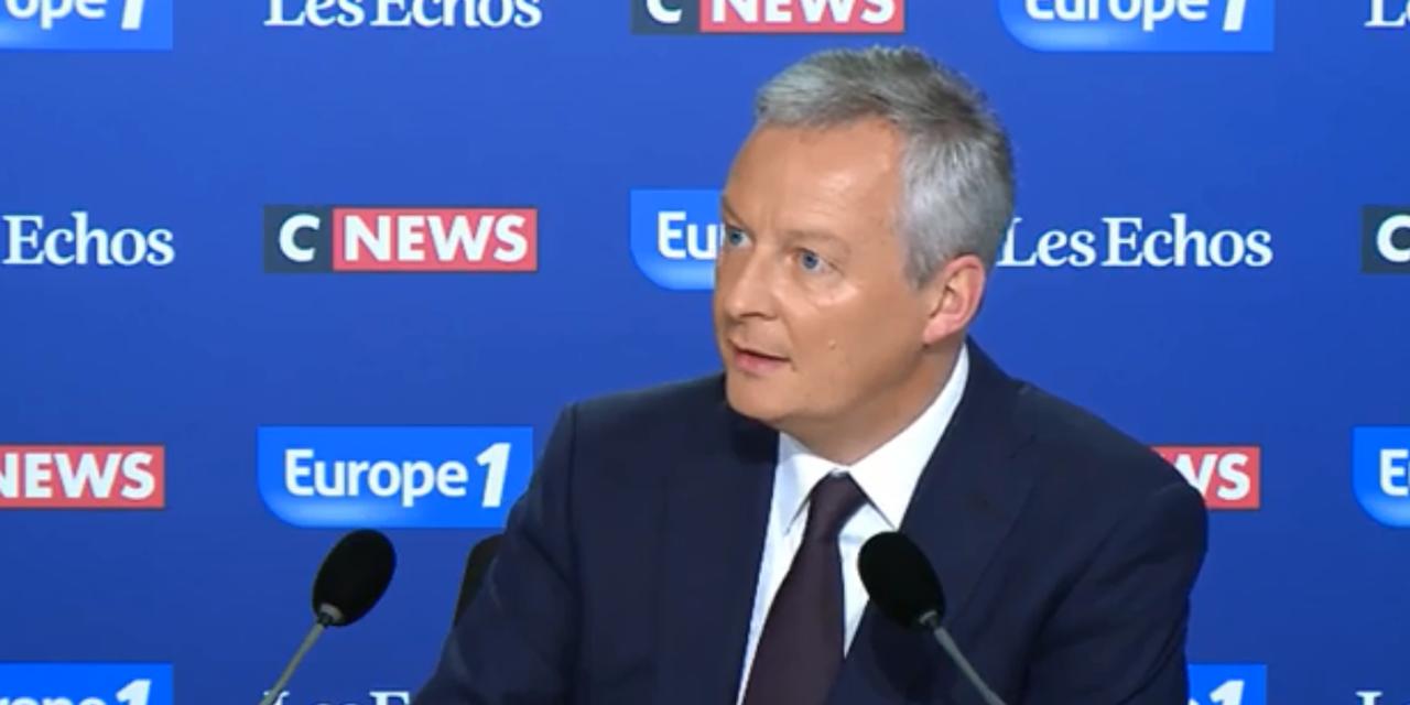 Министр экономики Франции Брюно Ле Мэр дал интервью Europe 1, Les Echos, CNEWS в воскресенье 20 мая.