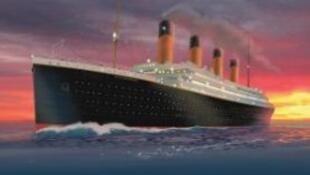 """Cartaz da exposição """"Titanic"""", que abriu neste sábado, 1° de junho de 2013, em Paris."""
