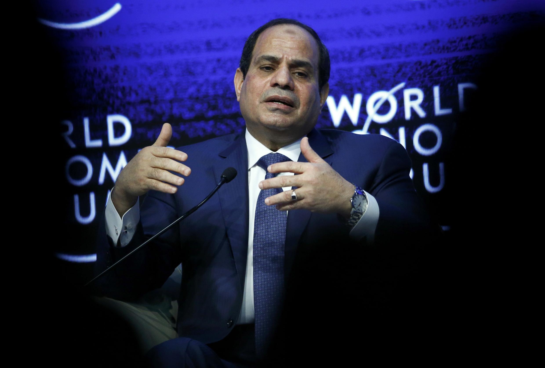 Egyptian President Abdel Fattah al-Sisi at the World Economic Forum in Davos on 22 January, 2015
