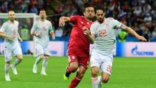 تیم ملی فوتبال ایران در دومین بازی خود در جام جهانی روسیه به مصاف اسپانیا رفت - ٢٠ ژوئن ٢٠١٨ / ٣٠ خرداد ١٣٩٧