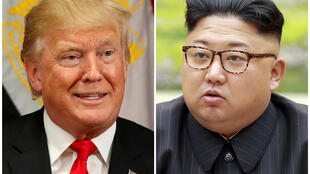 Tổng thống Mỹ Donald Trump (trái) và lãnh đạo Bắc Triều Tiên Kim Jong Un vẫn nắn gân nhau qua màn đấu khẩu nảy lửa.