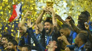 法國隊戰勝克羅地亞對獲得世界盃冠軍