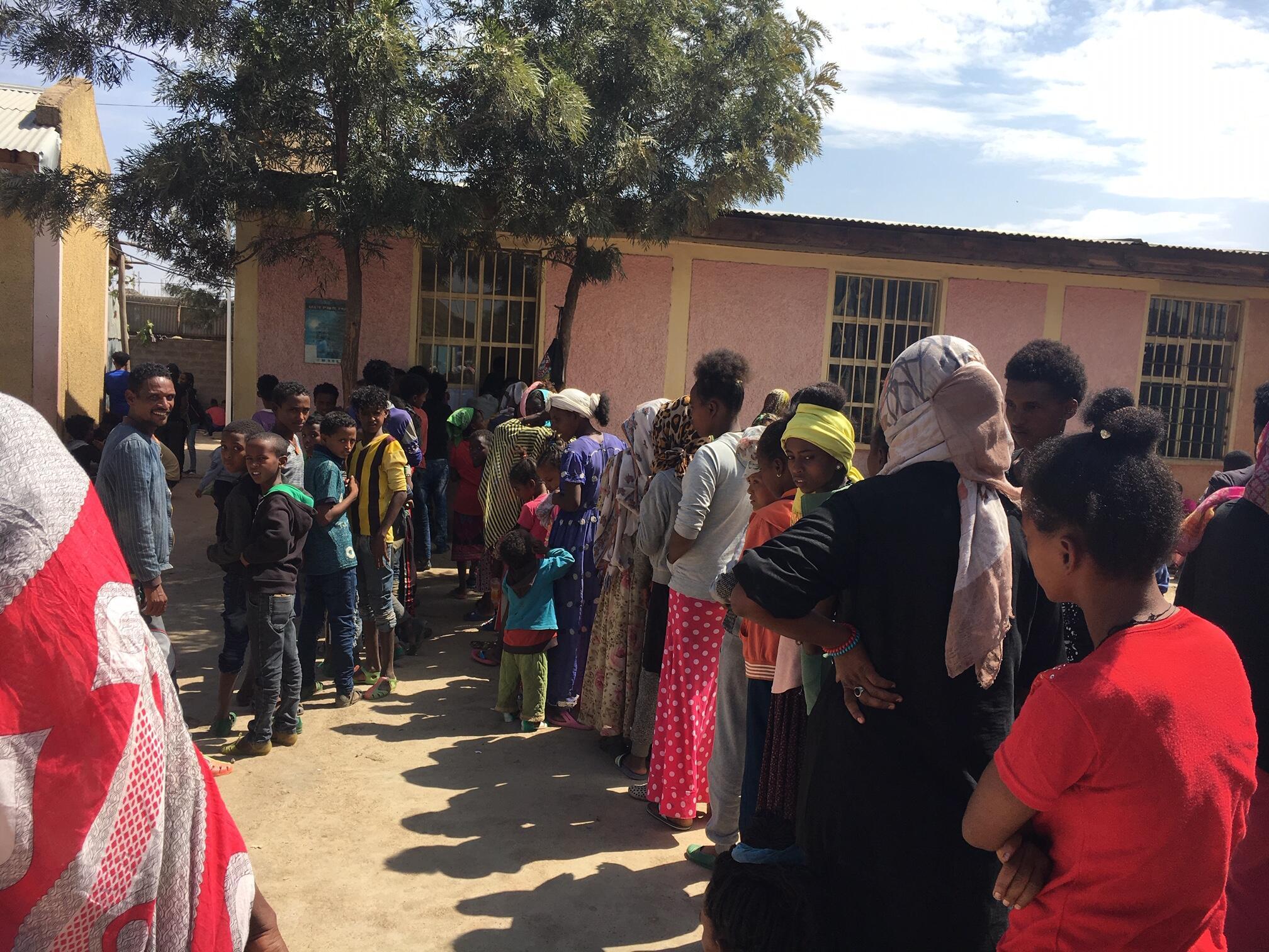 Des réfugiés érythréens au camp d'Inda Aba Guna en Éthiopie.