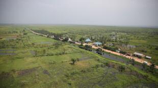 Une vue du paysage au niveau de la frontière entre le Burundi et la RDC, à Uvira.
