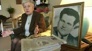 Malika Boumendjel, widow of Algerian independence fighter la Ali Boumendjel (photo), in 2001.