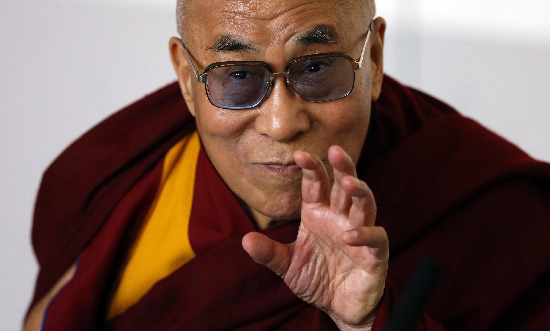 Dalai Lama durante seu discurso em Manchester, no Reino Unido, nessa sexta-feira.