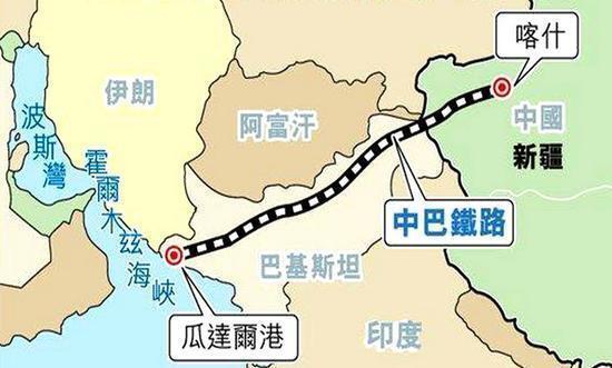 中巴經濟走廊示意圖