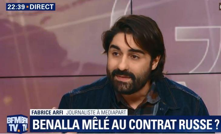 Журналист Mediapart Фабрис Арфи в эфире BFM TV 11 февраля 2019