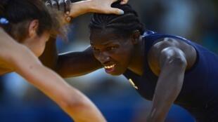 La Sénégalaise Isabelle Sambou lors des Jeux olympiques 2012.