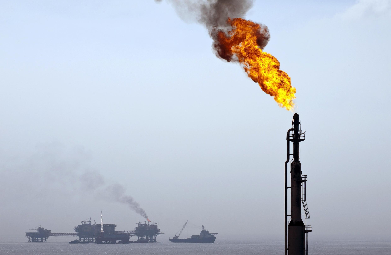 Un pozo de petróleo de la compañía Pemex en el Golfo de México.