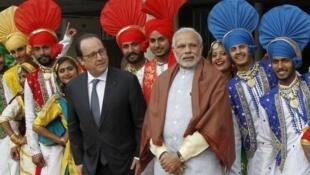 Francois Hollande da Nerendra Modi a ranar 24-01-2016
