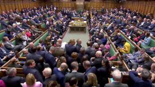 Các nghị sĩ Anh Quốc trong cuộc bỏ phiếu về việc dời ngày Brexit, 03/04/2019.