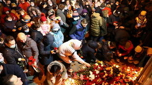 Минск. 12.11.2020. Мемориал на месте избиения Романа Бондаренко.