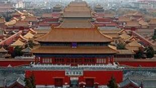 北京故宫博物院外景。