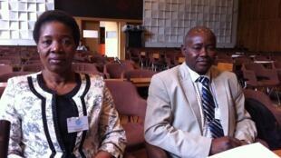 Elisa Arão Mukavele, Coordenadora-Geral da Associação Progresso, e Laurindo Nhacune, Director Nacional da Alfabetização e Educação para Adultos de Moçambique.