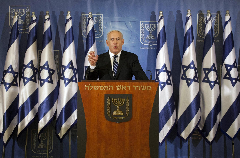 Em pronunciamento nessa quinta-feira, o premiê israelense Benjamin Netanyahu disse que vai fazer tudo para defender a população dos ataques palestinos.