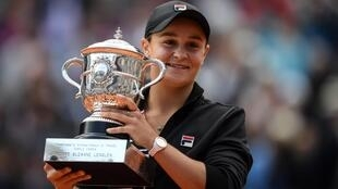 Ashleigh Barty won her first Grand Slam trophy at the French Open in 2019.