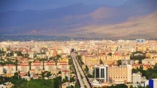 Vista da cidade de Van,Turquia