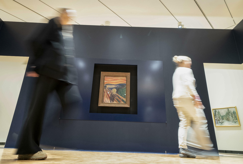 """La obra """"El grito"""", fotografiada en el Museo Edvard Munch de Oslo el 19 de octubre de 2021"""
