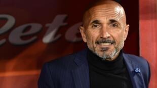 L'entraîneur italien Luciano Spalletti, alors à la tête de l'Inter Milan, le 19 mai 2018 au stade San Paolo de Naples