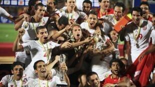 L'équipe de Tunisie, vainqueur du CHAN 2011.