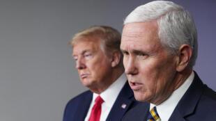 El presidente de Estados Unidos, Donald Trump, y su vicepresidente, Mike Pence, en una imagen de archivo, el 22 de abril de 2020 en Washington