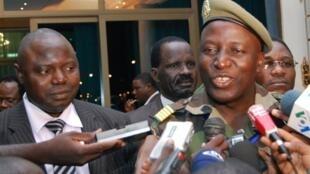 Le colonel Moussa Keïta, chef de la délégation de la junte et ministre-secrétaire permanent du CNDD.
