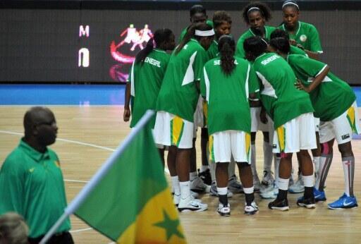 L'équipe sénégalaise de basket féminin lors du Championnat du monde 2010.