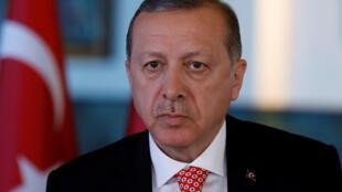 Le président turc Recep Tayyip Erdogan, au palais présidentiel à Ankara, le 25 juin 2017.