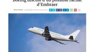 Reprodução damatéria publicada nesta sexta-feira (22) pelo jornal Les Echos.