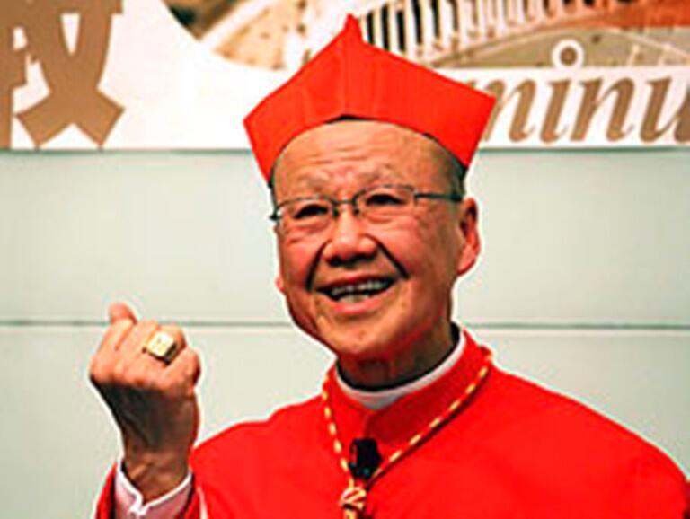 資料圖片:已經卸任的榮休主教湯漢樞機再次被羅馬教廷任命為香港教區宗座署理,