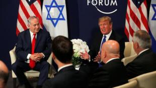 """دیدار دونالد ترامپ و بنیامین نتانیاهو در داووس """"بسیار گرم"""" توصیف شد"""
