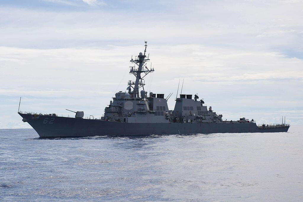 Tầu khu trục USS Fitzgerald, trên Thái Bình Dương năm 2012.