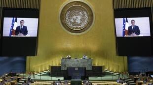 Речь Эмманюэля Макрона по случаю 75-й Генеральной ассамблеи ООН