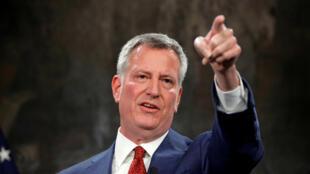 Thị trưởng New York Bill de Blasio, thuộc đảng Dân Chủ, trong ảnh ngày 16/03/2017.