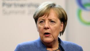 Angela Merkel, la chancelière allemande à Bruxelles, le 24 novembre 2017.