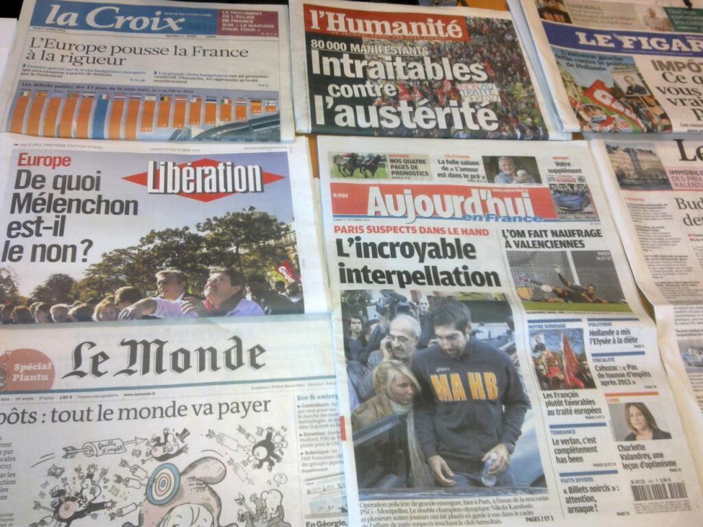 Diários franceses   01/10/2012