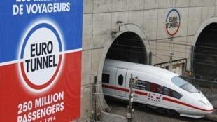 Le train allemand ICE3 est arrivé à Londres le 19 octobre 2010
