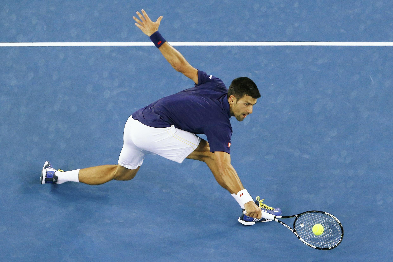 Defending champion Novak Djokovic needed five sets to see off the Frenchman Gilles Simon.