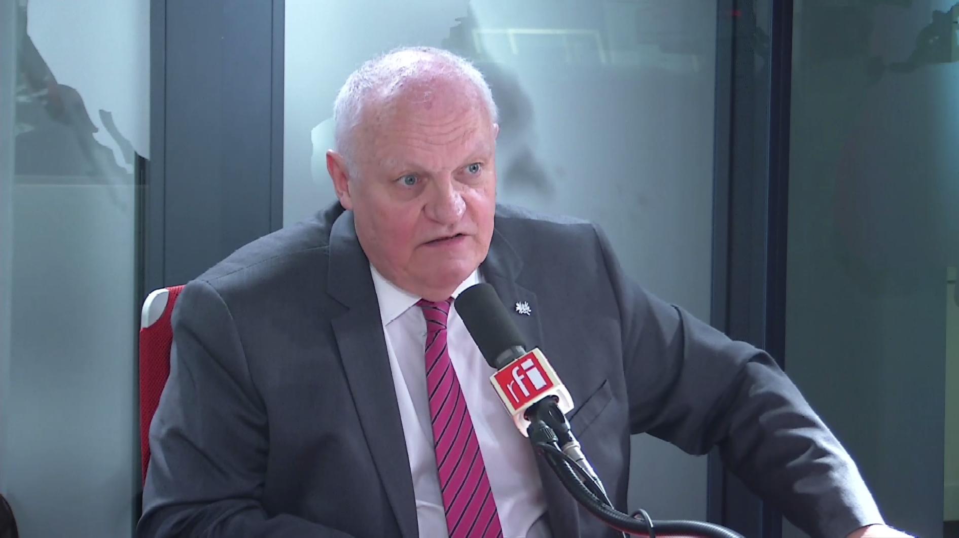 François Asselineau sur RFI le 13 mai 2019.