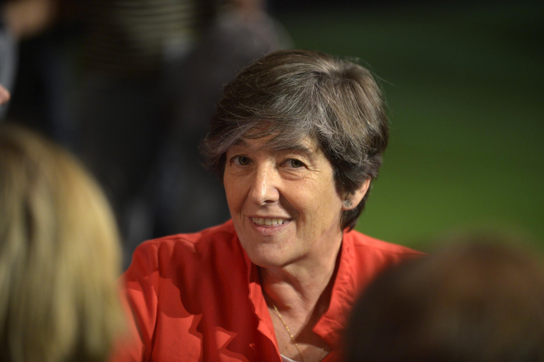 Laura Mintegi, candidata de Euskal Herria Bildu, Bilbao, 13 de octubre de 2012.